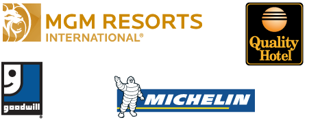Our Conference Call Customers in 100+ Countries - MGM Resorts International, Quality Hotel, Goodwill, Michelin