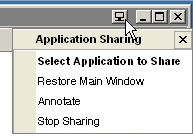 Application Sharing menu