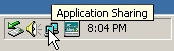 Application Sharing icon in Windows taskbar